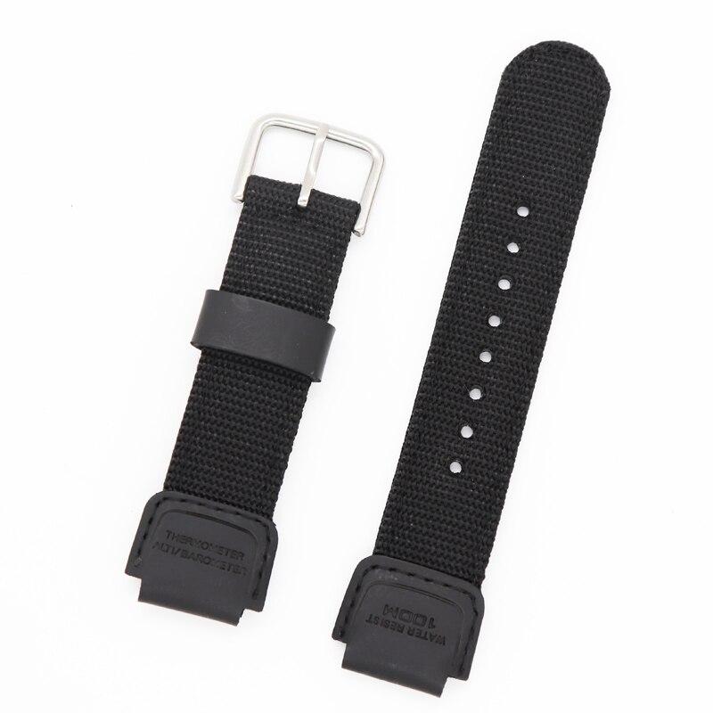 Replacement Wristband Strap For Digital Watch SGW1000 AQ-S810W SGW-300H SGW-400H AE12000 Nylon + Lea