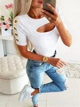 Summer Slim Lady Casual Skinny Elastic Tshirt Women Short Sleeve Solid Tops Tees Female Cotton Tshirts Clothes