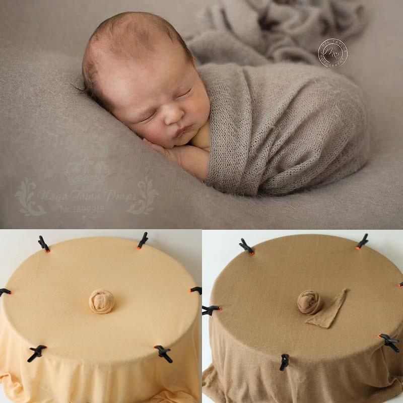 9 цветов мягкие полотно для фотографирования для новорожденных для мальчиков и девочек эластичные трикотажные Детские фото обертывания тк...