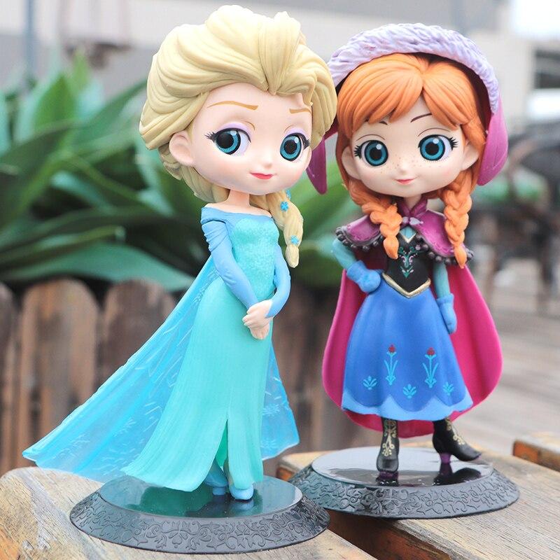 Disney Frozen Elsa Anna Princess Figures PVC Model Doll Action Collection Figurine Toy model for children gift недорого