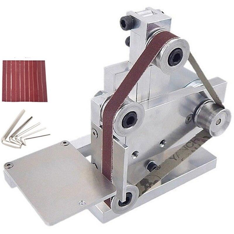 Mini lijadora de banda GTBL con enchufe europeo, amoladora de montaje en banco, amoladora de pulido, amoladora de ángulo eléctrica, amoladora de ángulo 175x110x140Mm