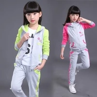 new kids girls sports suit autumn childrens sweatshirts long sleeved jacketpants 2pcs set casual girl clothing suit sportswear