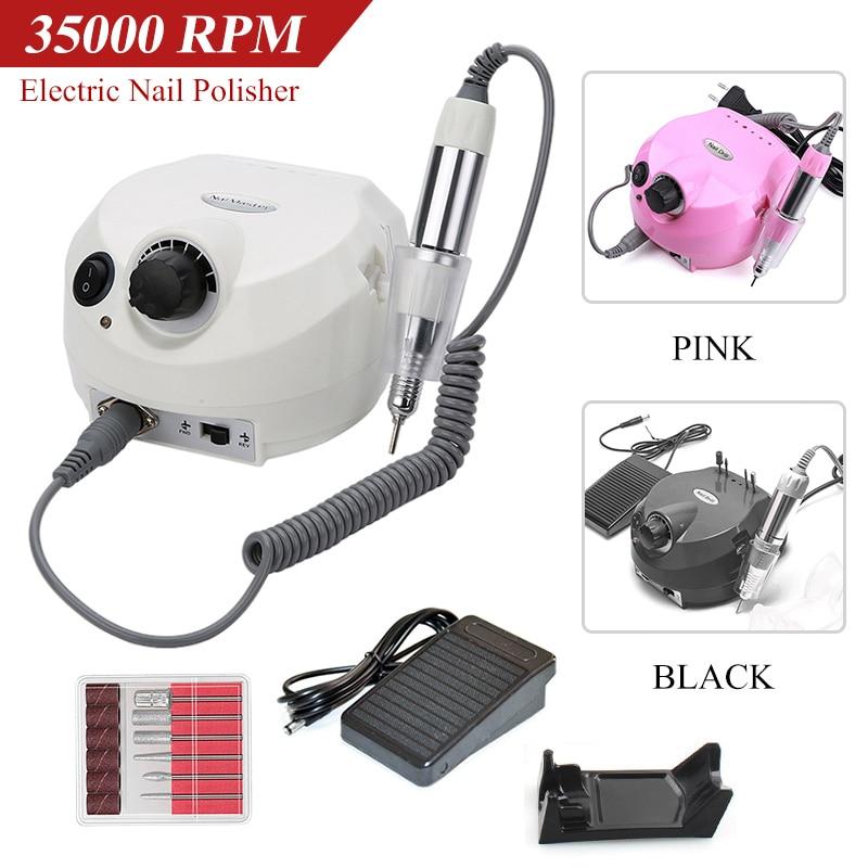 Máquina de Broca do Prego Conjuntos para Manicure Elétrica Moinho Cortador Unhas Dicas Manicure Pedicure Ferramentas Arquivo 35000 – 20000 Rpm