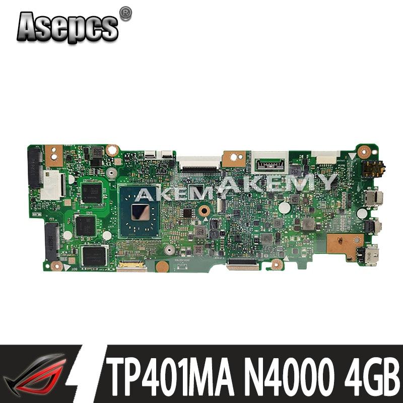 اللوحة الأم For Asus Vivobook Flip TP401MA TP401M N4000 4GB RAM ليس مع SSD
