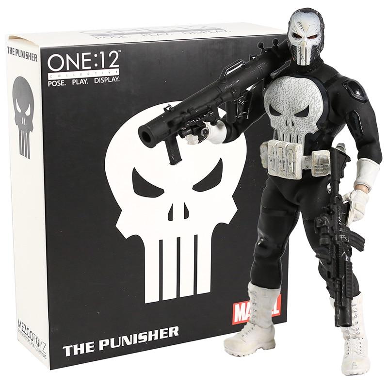 Mezco Toyz Punisher One 12 figura de acción colectiva Marvel Comics modelo de juguete coleccionable