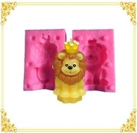 cute little lion 3d silicone mold diy cake pastry fondant moulds dessert chocolate ornaments decoration kitchen baking tools