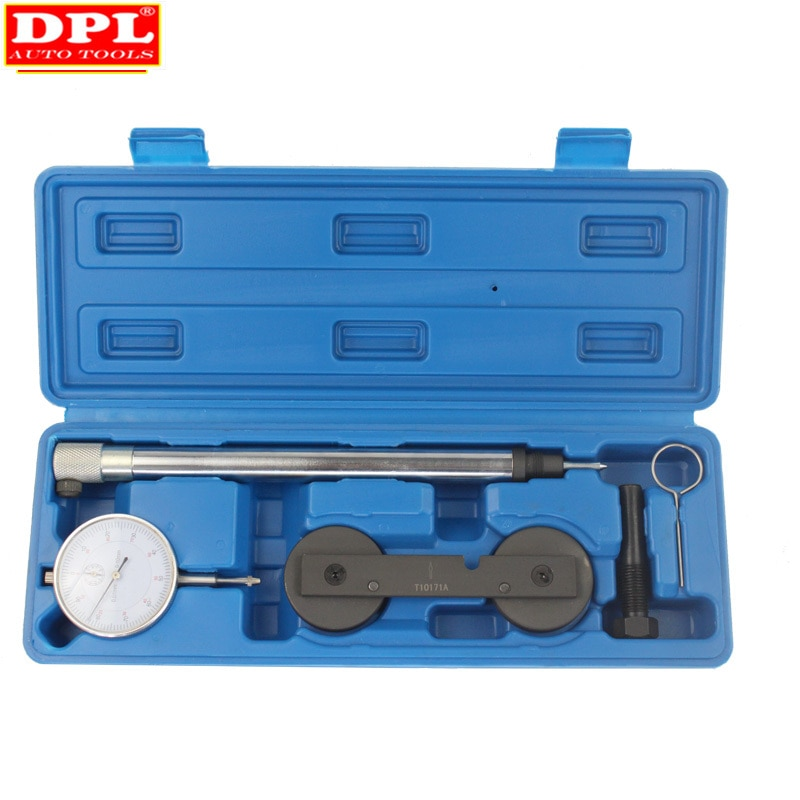 High quality T10171A Engine Timing Tool For VW AUDI 1.4/1.6FSi 1.4 TSi 1.2TFSi/FSi Inc Dial Gauge Tdc + Locking Tools enlarge