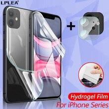 เต็มรูปแบบสำหรับ iPhone 11 12 Pro Max Hydrogel ฟิล์มสำหรับ iPhone 12 Mini ฟิล์ม XS Max X กล้องกระจกนิรภัย
