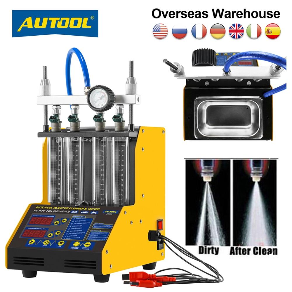 AUTOOL-جهاز اختبار حاقن وقود السيارة CT150 ، أصلي ، آلة تنظيف بالموجات فوق الصوتية ، فوهات وقود 220 فولت 110 فولت