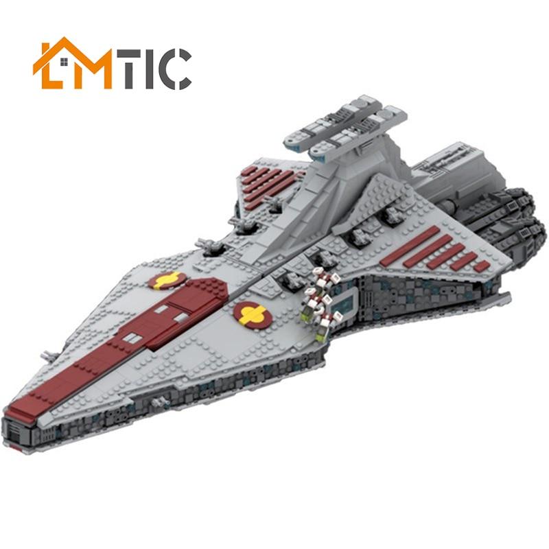 MOC Star Series 43186 The Venator-class-Republic-Attack Cruiser StarWarlys Model Building Blocks Collection toys kids gift