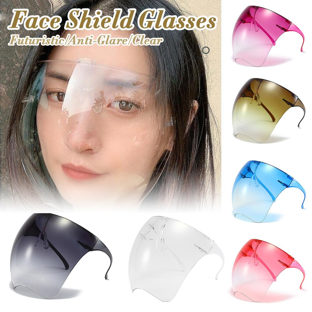1Pcs Clear Full Face Shield Unisex Oversize Shield Visor Sunglasses Plastic Lightweight Sun Glasses