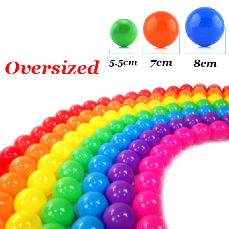 50/100 Pcs Eco-Friendly Colorful Soft Plastic Water Pool Ocean Wave Ball Baby Funny Toys Stress Air Ball  Outdoor Fun Sports Hot