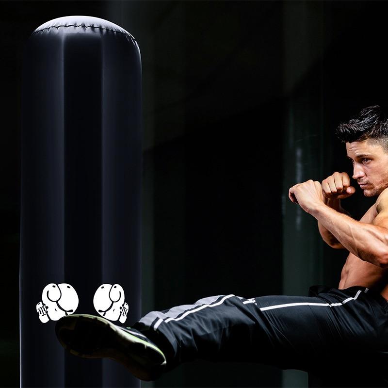 Recién boxeo bolsa inflable Kickboxing bolsa libre Fitness soporte para BLANCO bolsa de arena para el estrés aliviar deporte FIF