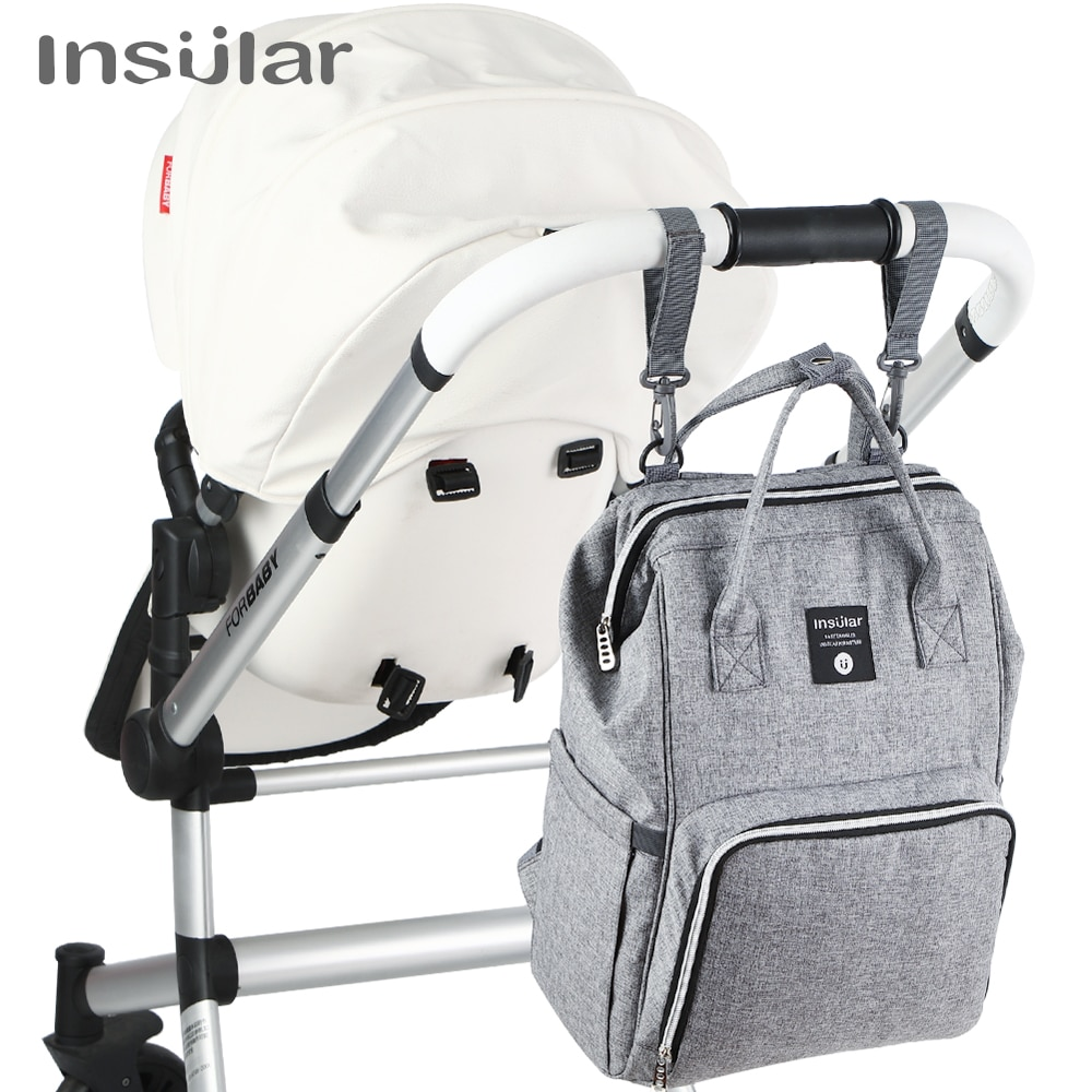 Insular Brand Nappy Backpack Bag Mummy Large Capacity Stroller Bag Mom Baby Multi-function Waterproof Outdoor Travel Diaper Bags