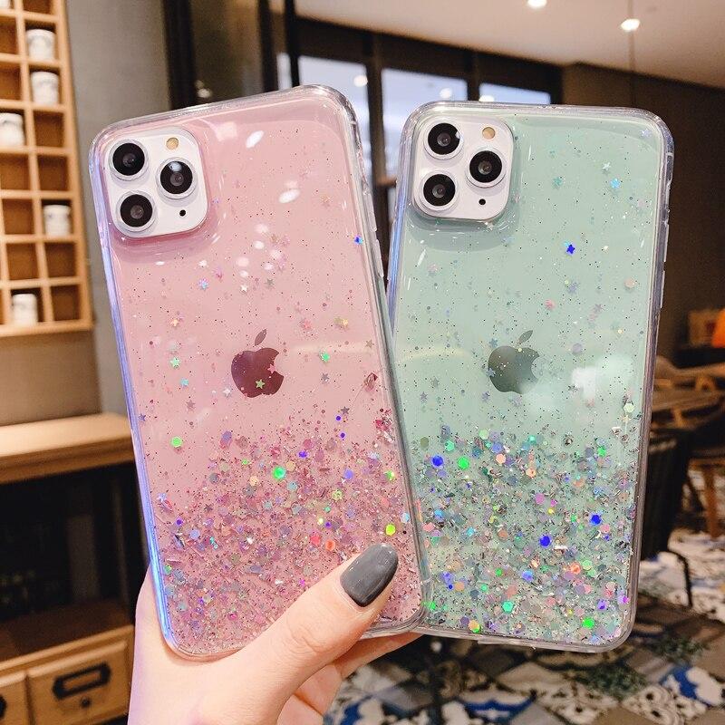 Bling Glitter Phone Case for Huawei Nova 5T 6 7 8 SE 7i Case Silicone Back Cover for Huawei Nova 2i 3 3i 4 5 5i Pro Coque Etui