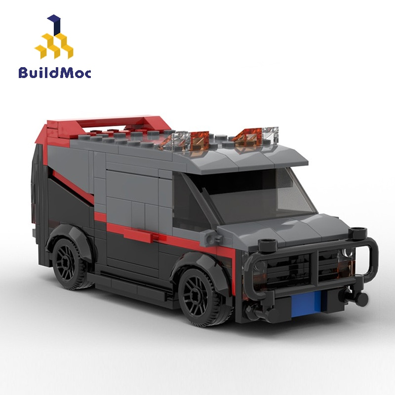 BuildMoc Technical Truck House City Police Station Car MOC Swat Team Van Building Blocks Bricks City Fire Toys For Children Gift building blocks city police station swat model fire fighting friends fingure bricks educational toys for children