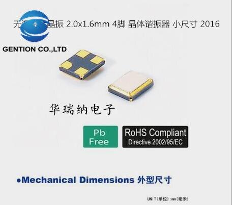 50 Uds 100% nueva y original FA-128 EPSON 2016 pasiva de 24M 24MHZ 24.000MHZ Q22FA128001200