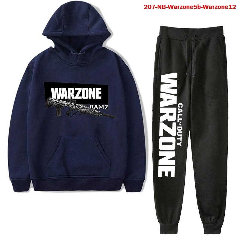 Men's Polyester Sweatshirt Set Call of Duty Warzone Long Sleeve Hoodie Suit Women Hoodies Autumn Sportswear Tracksuit Trousers
