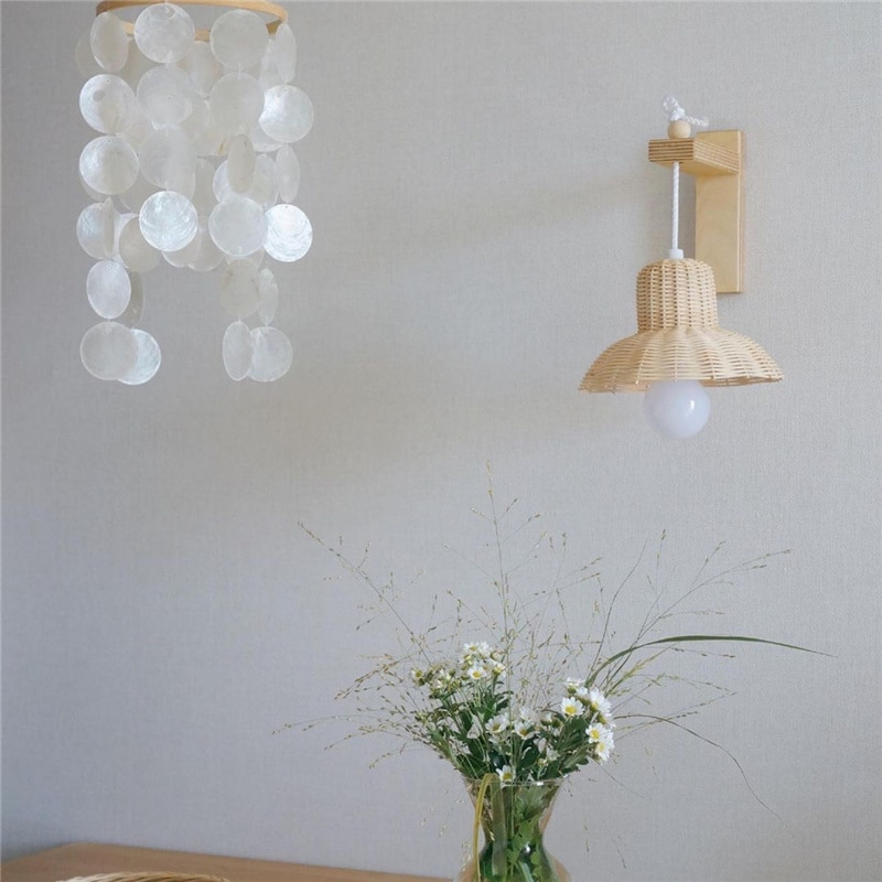rattan abajur artesanal criancas quarto bercario dormitorio ornamento luz de teto