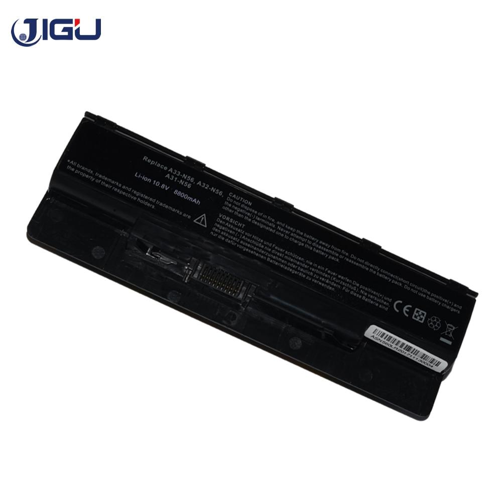 JIGU Новый 12 ячеек Аккумулятор для ноутбука ASUS A31-N56 A32-N56 A33-N56