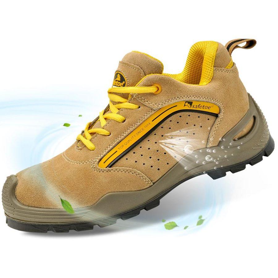SAFETOE أحذية أمان رجالي تنفس الرياضة مع الصلب تو العمل أحذية امرأة أحذية واقية غير رسمية مكافحة ثقب Waterpoof