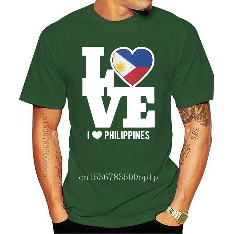 New Men t shirt Short sleeve Love Philippines T Shirt Patriotic Filipino Expat T Shirt(1) Women t-shirt tee tops