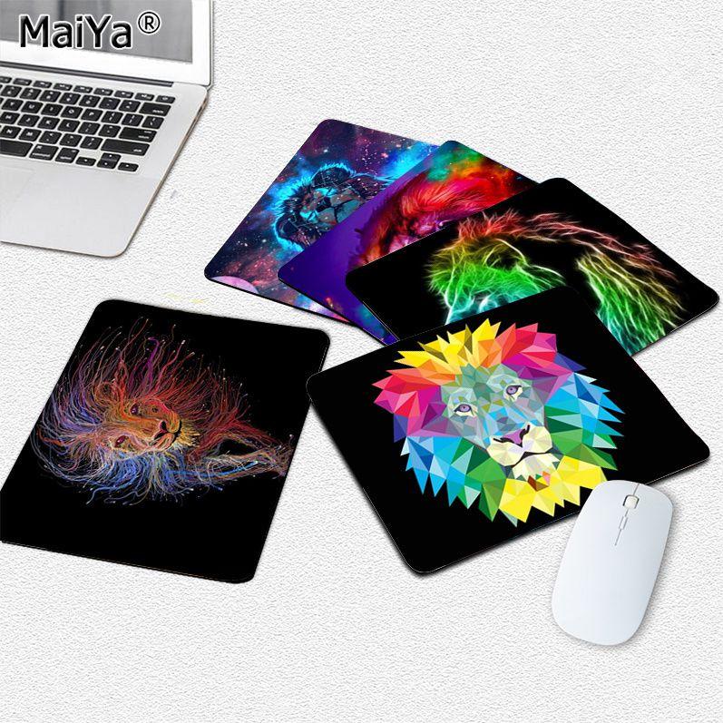 Новое поступление, игровой коврик для мыши MaiYa с радужным львом для ноутбука, гладкий коврик для мыши, настольные компьютеры, коврик для игро...