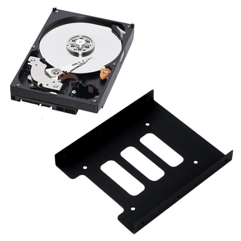 "Soporte de bandeja de montaje de adaptador de disco duro SSD de 2,5 ""a 3,5"", soporte de disco duro para PC, carcasa de disco duro"