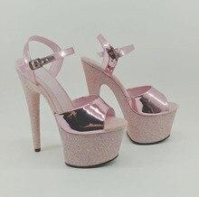 35-41 Sexy dames discothèque chaussures plates-formes mariage femmes Banquet chaussures 20cm Spike talons hauts chaussures femmes pompes