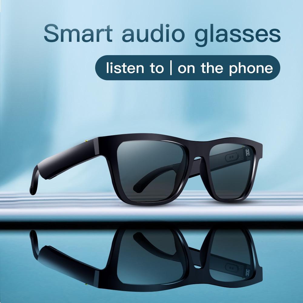 Óculos de Sol Esportes ao ar Livre à Prova Estéreo com Microfone sem Fio Áudio Inteligente Bluetooth Dwaterproof Água Cancelamento Ruído Fone Ouvido Ddj