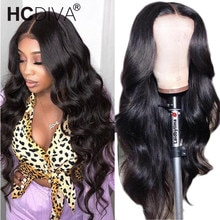 Midddle Part Body Wave Lace Front Wig For Women Peruvian Remy Human Hair Wig Pre Plucked With Baby H