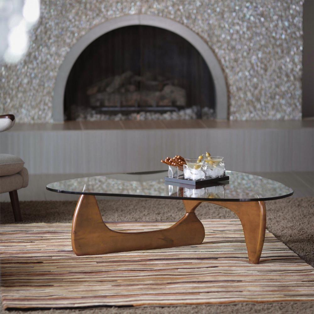 Furgle زجاج الأعلى مثلث طاولة القهوة خمر الزجاج نهاية الجدول الترفيه الزجاج المقسى طاولة جانبية للمقهى/غرفة المعيشة
