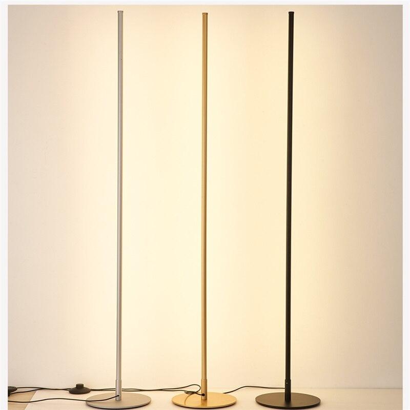 Nordic Led Floor Lamps Modern Minimalist Remote Control Dimming Corner Standing Light For Living Room Bedroom Home Decor Lights