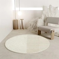 soft round carpet living room home bedroom rug computer chair floor mat kids room area rugs nordic striped carpet