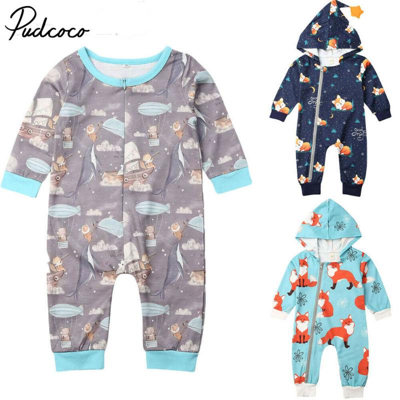 Pudcoco mamelucos de bebé invierno cálido manga larga de lana de Coral bebé recién nacido Ropa para bebé (niño o niña) mono infantil Animal general de