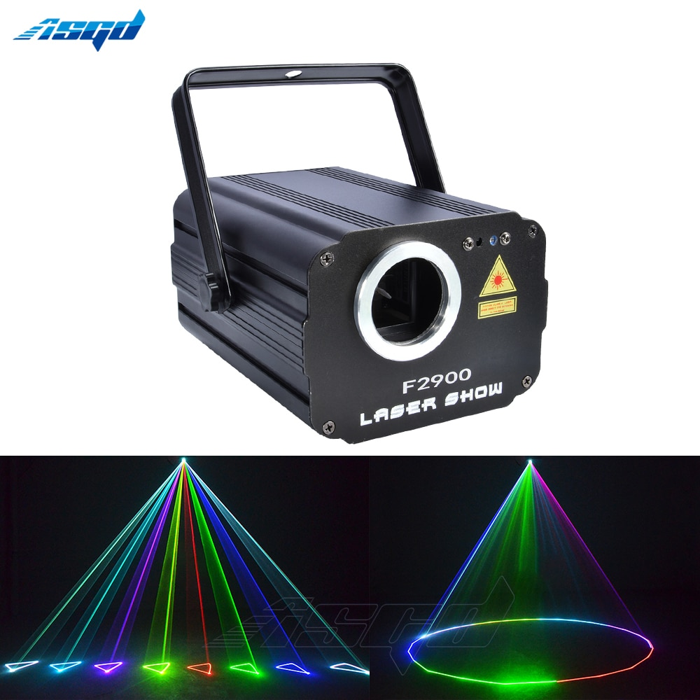 Beam 1800mW 3D Stage Laser Light RGB Animation Scan Projector Wedding Birthday Party DJ 2000 Patterns Christmas Music Disco Bar