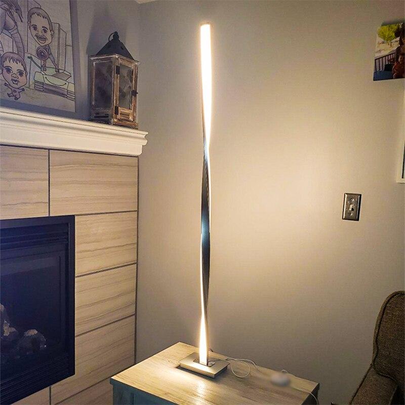 Lámpara LED de pie moderna para salas de estar, poste de luz de pie moderno para dormitorios de estudio, oficinas, Luz de suelo regulable brillante