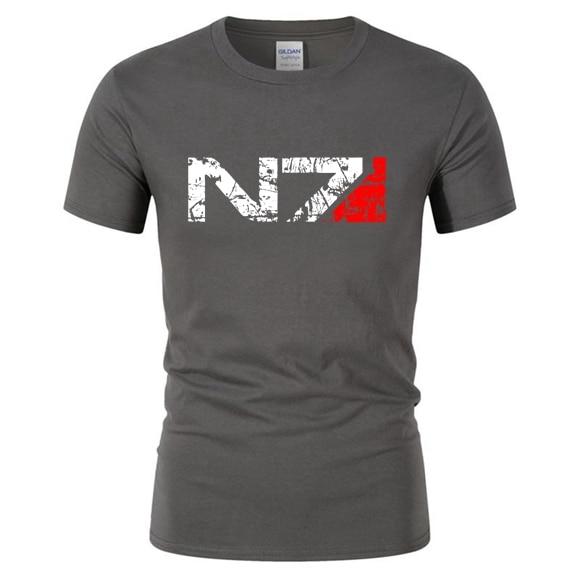 Novos jogos n7 mass effect 3 t camisa masculina sistemas aliança militar emblema jogo tshirts feminino camiseta masculina n 7 tshirt DG-99