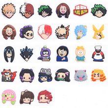 1 pz Cool personaggio giapponese Charms per scarpe da cartone animato per bambini accessori per scarpe in PVC zoccoli scarpe Charms regali di compleanno