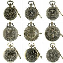 Bronze Steampunk Gear Theme Full Hunter Quartz Engraved Fob Retro Pendant Pocket Watch Chain Gift