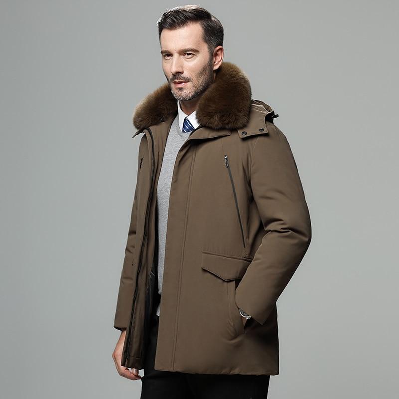 2020 New Men's Winter Coat High-quality Men's Jacket Windproof Warm Hooded Parkas Outdoor Real Fur C