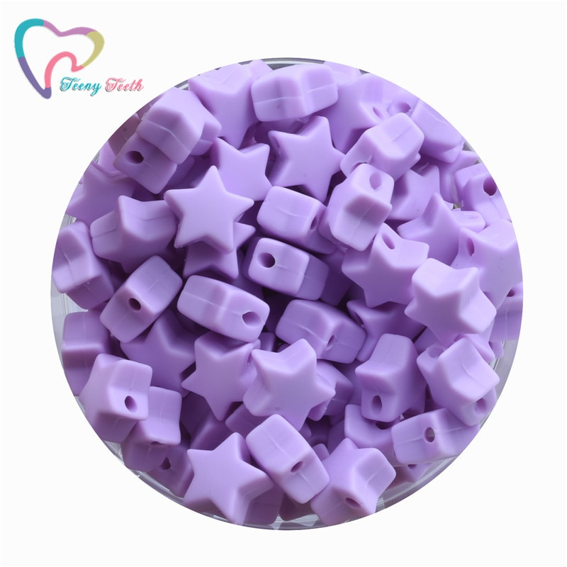 20 PCS Silicone Mini Star Beads Food Grade Silicone Star Teether Baby Products Silicone Rodent Brace
