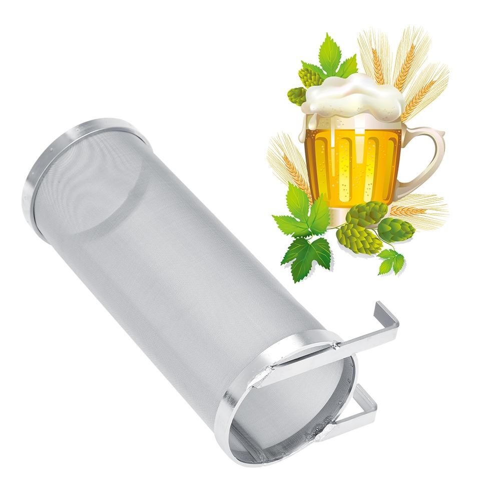 Filtro de malla de 300 micrones de acero inoxidable para cerveza artesanal con gancho filtro casero para cerveza casera