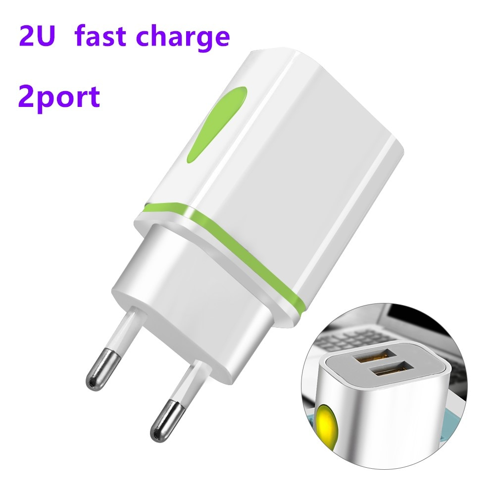 Quick Charge Fast charger  18w USB Adapter 2ports Charging EU/US Mobile Phone Chargers For iPhone 11