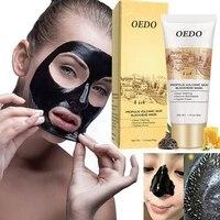 60g blackhead remove facial masks deep cleansing oil control pore cleanser black volcanic mud propolis mask for face women men