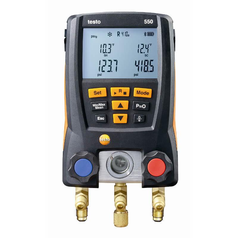 Testo 550-مقياس تبريد رقمي مع مشبك مواسير ، مقياس تبريد ، مجسات 0563 1550 ، أدوات تكييف