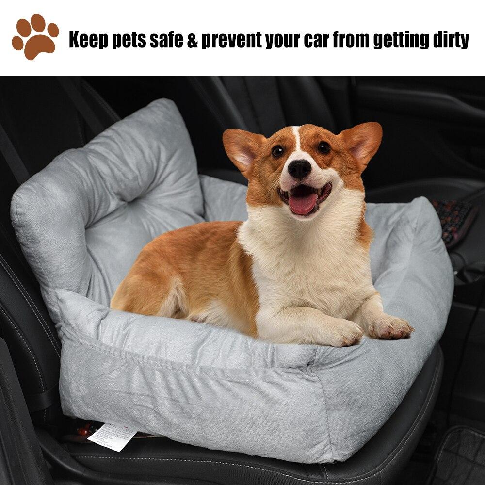 Bolsa de asiento frontal de coche para mascotas, funda de asiento impermeable, canasta para cachorro, portador de coche para gatos, perros, transporte, hamaca de Mascota, bolsa transportadora #1