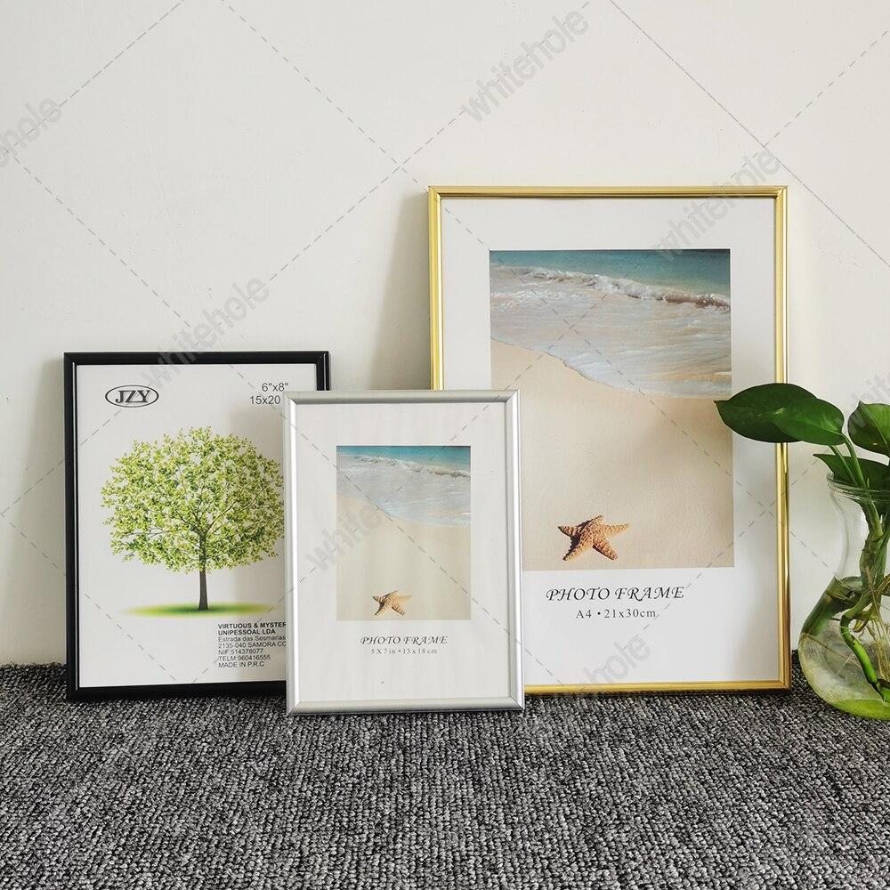 إطار صور معدني للجدار ، إطار مكتب صور كلاسيكي بسيط ، إطار شهادة Pleixglass