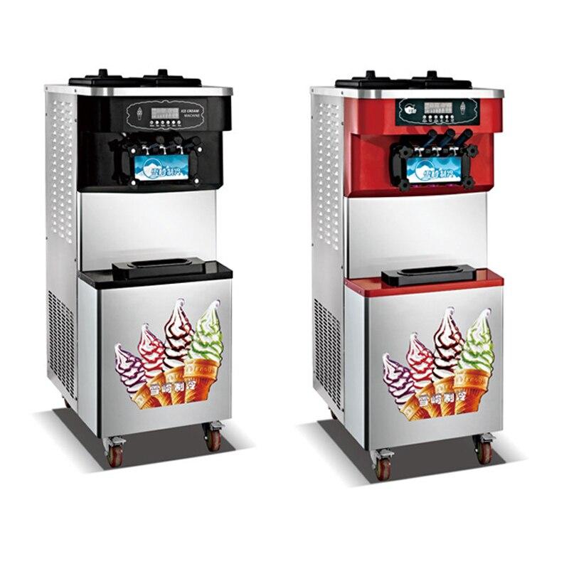9L * 2 ثلاثة ألوان آيس كريم ناعم القوام آلة 220 فولت/100 فولت جعل 30-40L/H الآيس كريم ذكي سطح المكتب آلة صنع أيس كريم