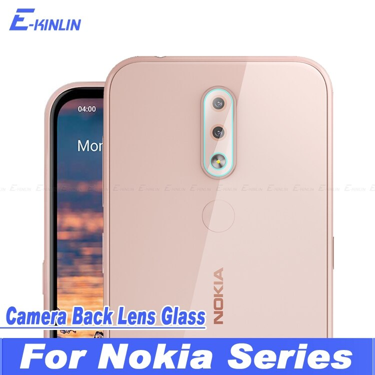 Cámara lente protectora transparente de cristal templado de cine Protector de pantalla para Nokia 8 Sirocco X7 X6 8,1 7 6,1 Plus 6 4,2 3 2018 X71